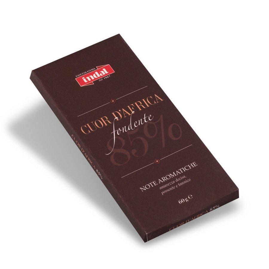 "Tavoletta cioccolato fondente ""Cuor d'Africa"" 85% – 60g"
