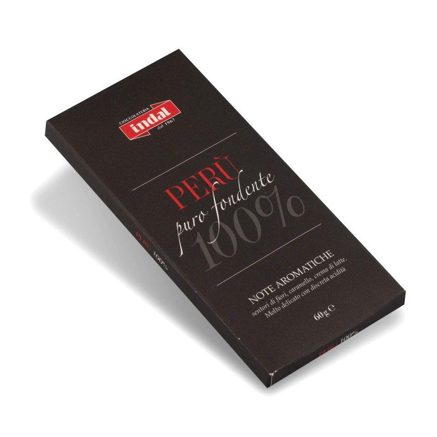 """Tavoletta cioccolato puro fondente """"Perù"""" 100% – 60g"""