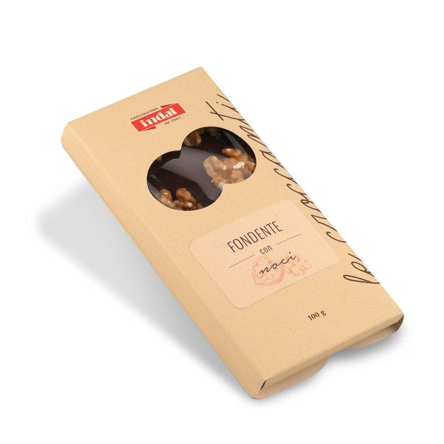 Tavoletta Cioccolato fondente con noci intere – 100g