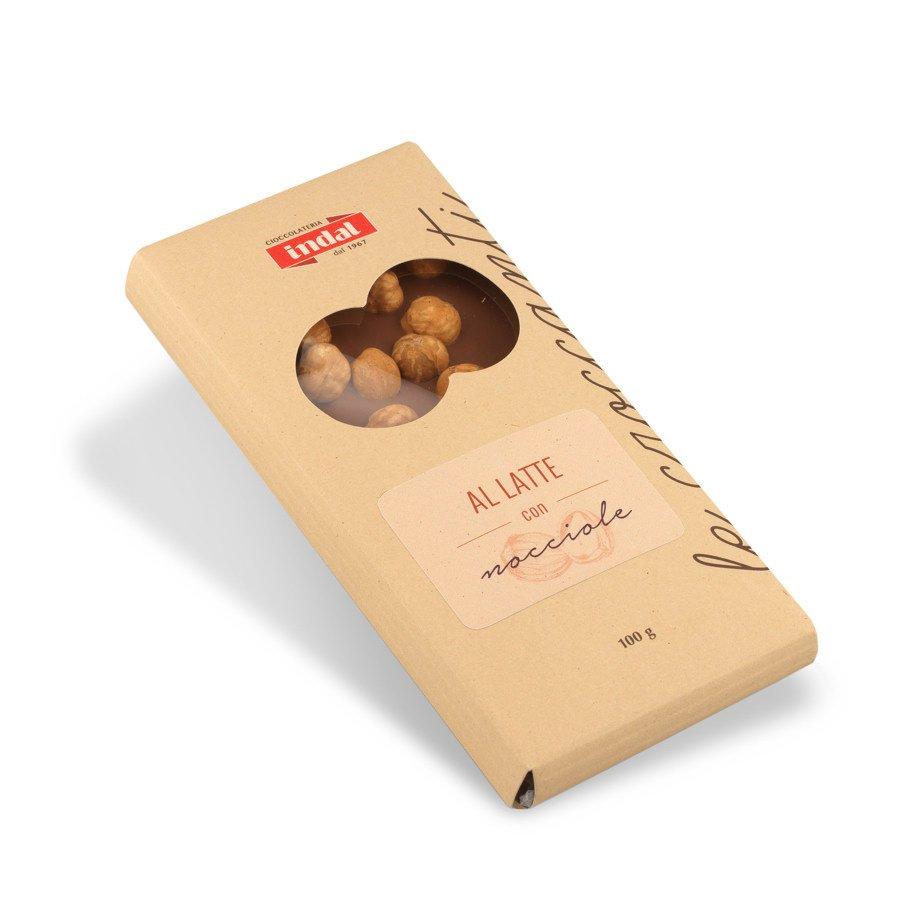 Tavoletta cioccolato al latte con nocciole – 100g