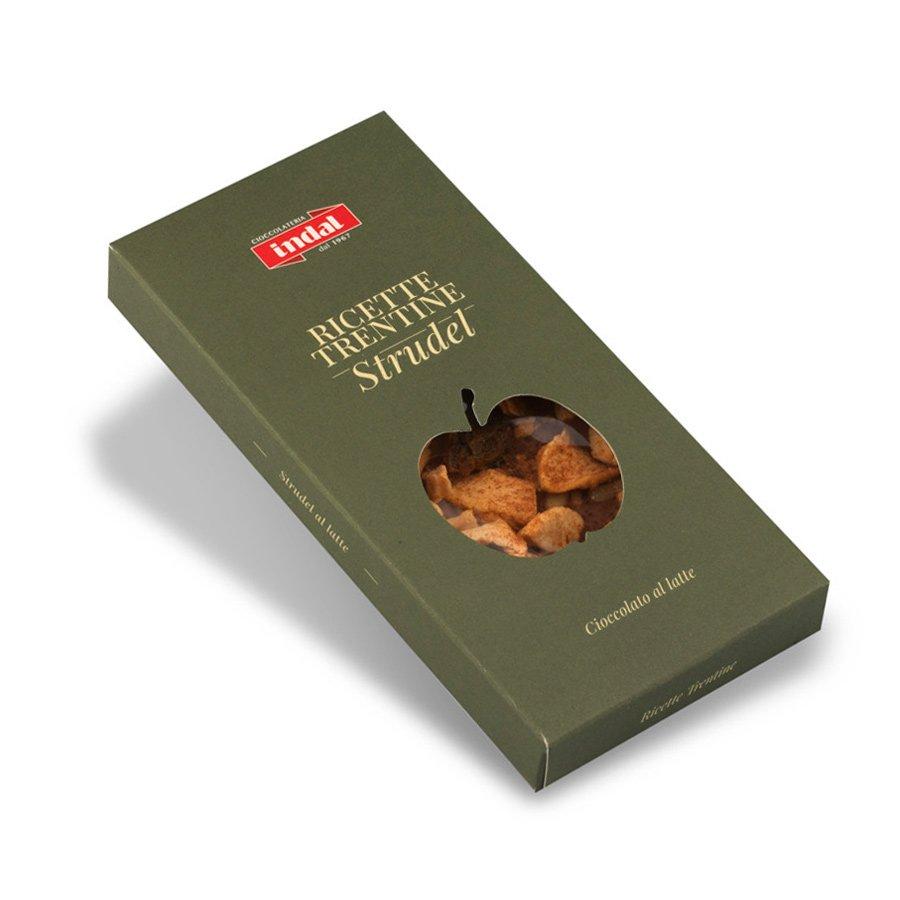 """Tavoletta cioccolato al latte con """"Strudel trentino"""" – 90g"""